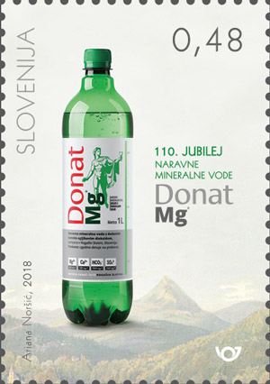 斯洛文尼亚5月25日发行Donat Mg天然矿泉水110周年邮票