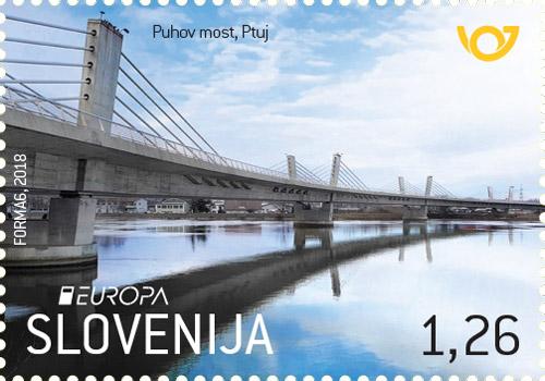 斯洛文尼亚5月25日发行欧罗巴2018桥梁邮票