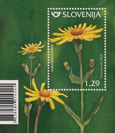 斯洛文尼亚3月23日发行药用植物小型张